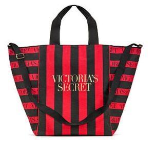 Victoria's secret Edit.Limit. Red Logo Lg Tote Bag
